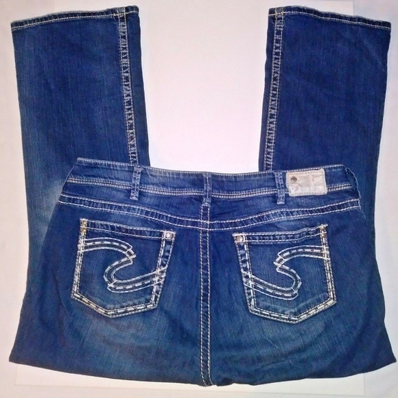 Silver Jeans Denim - SILVER Jeans Suki Stitch Distressed Sz 20 L30